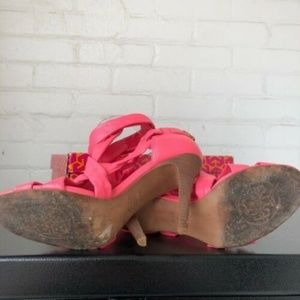 Tory Burch Shoes - Tory Burch Lipstick Pink Tie Up Heels